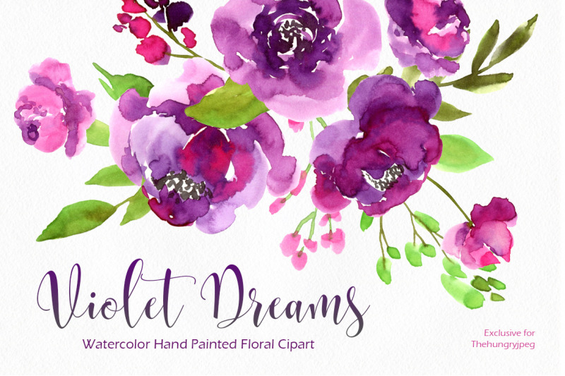 ultraviolet-watercolor-purple-violet-png-collection