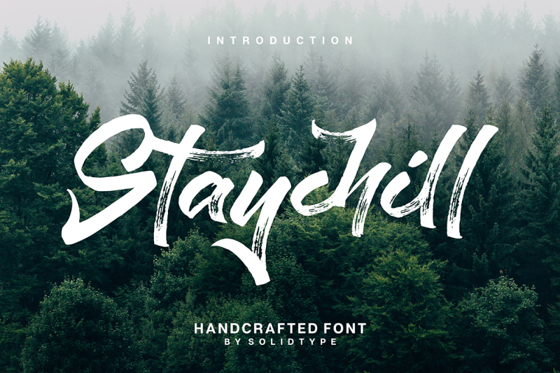 staychill-brush-font