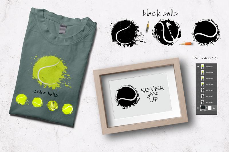 grunge-tennis-hand-drawn-balls