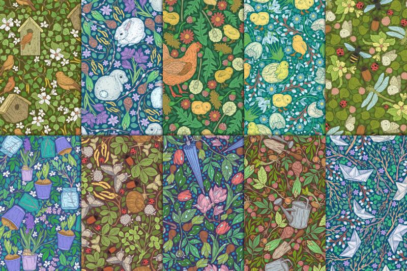 spring-stories-patterns