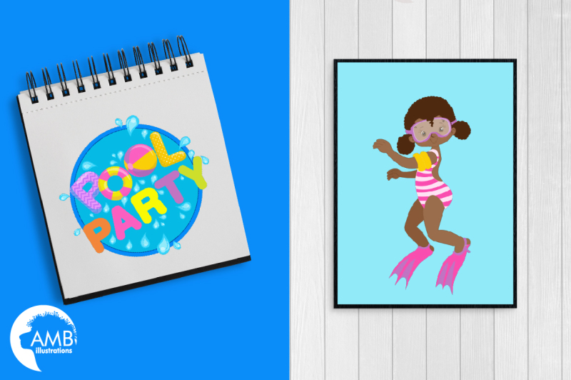 pool-party-for-girls-clipart-graphics-illustrations-amb-1998