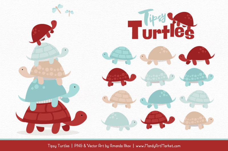 sweet-stacks-tipsy-turtles-stack-clipart-in-red-and-robin-egg