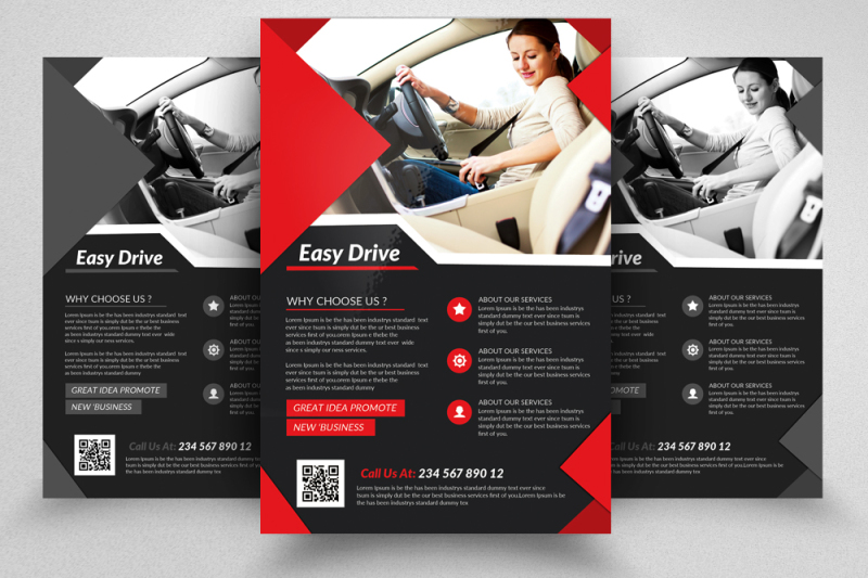 driving-school-flyers-templates