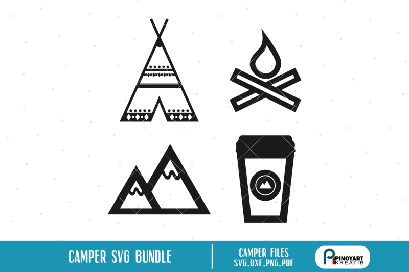 camping-svg-camping-dxf-teepee-svg-mountain-svg-firewood-svg-fire-svg