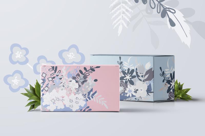vector-floral-elements-set