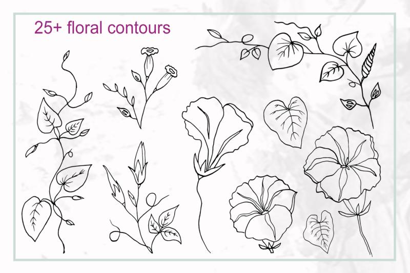 spring-floral-alphabet-graphic-set
