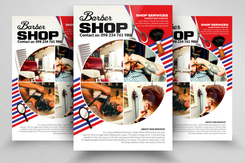 barber-shop-hair-style-flyer-templates