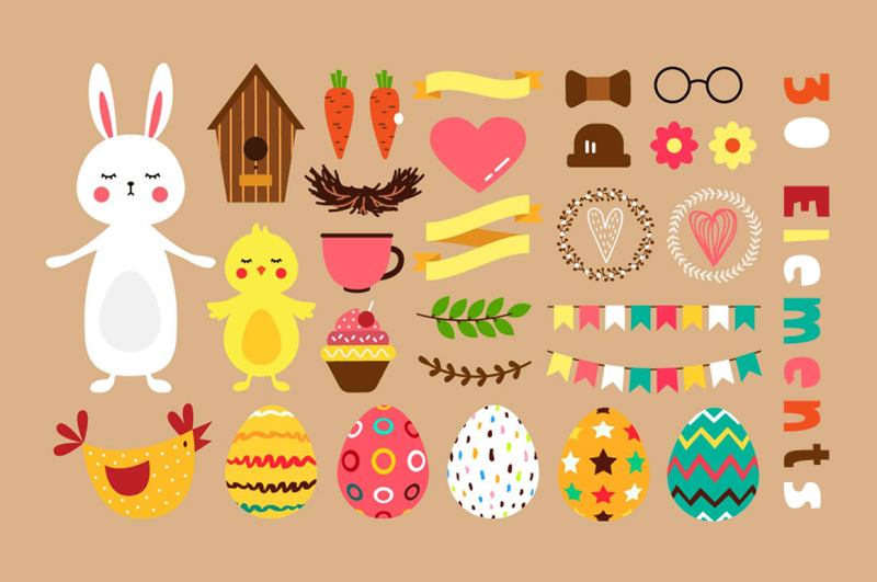 easter-friends-vector-kit