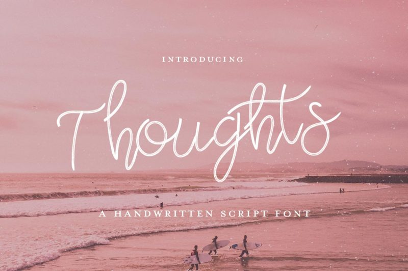 thoughts-script-font
