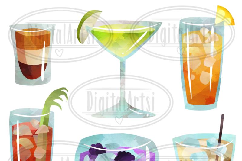 watercolor-cocktails-clipart