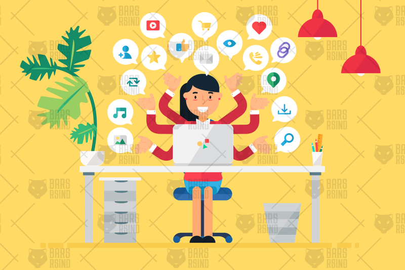 online-business-workspace-with-woman