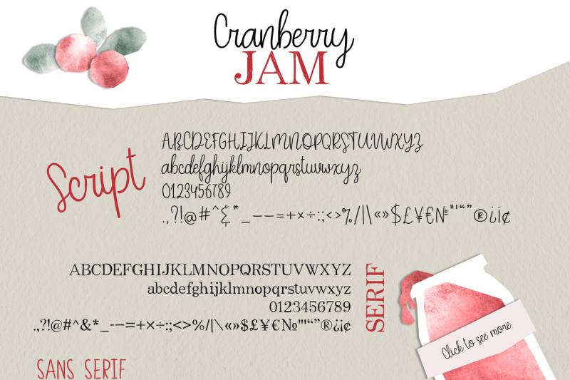 cranberry-jam-font-trio
