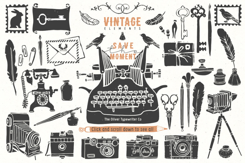 vintage-hand-drawn-items