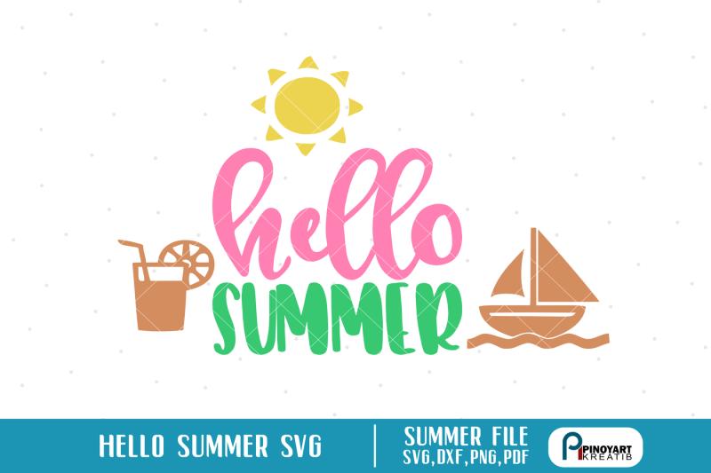 hello-summer-svg-summer-svg-summer-svg-file-summer-dxf-beach-svg-svg