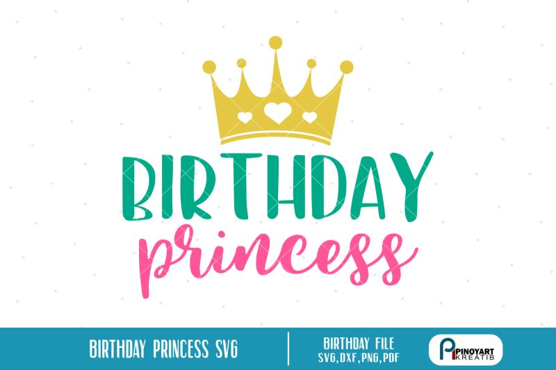 birthday-princess-svg-birthday-princess-dxf-princess-svg-princess-dxf
