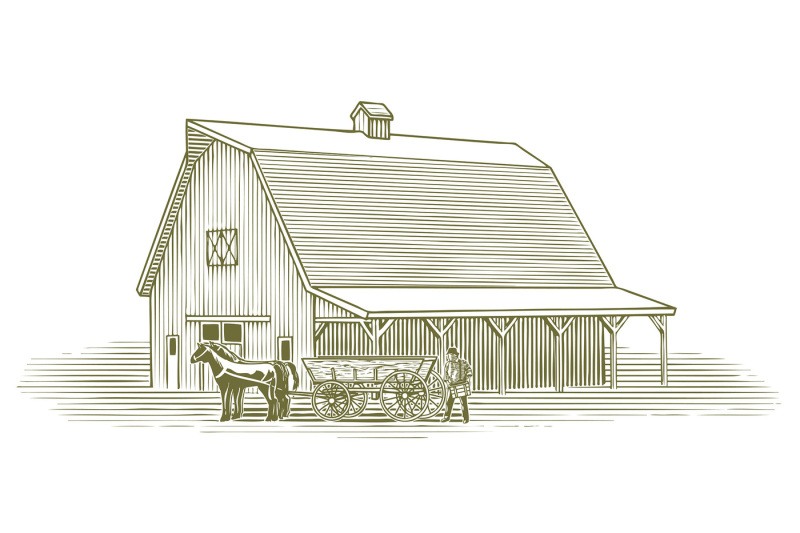 woodcut-working-farmer