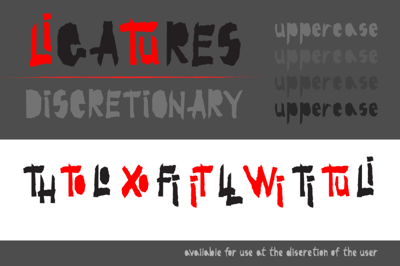 red-and-black-otf-font