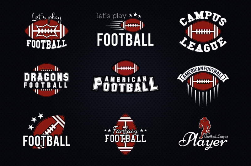 9-football-league-logos-amp-labels