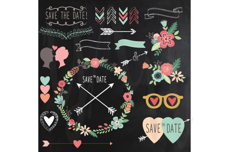 chalkboard-retro-wedding-design