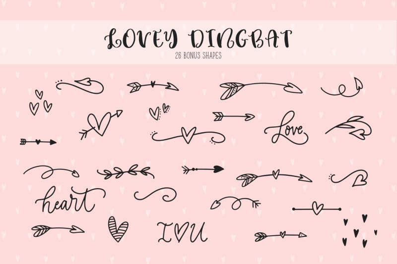 lovey-cute-valentines-heart-font-family