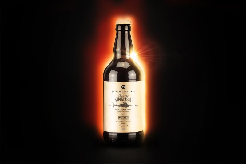 Free Eclipse Mockup - Bottle N1943 (PSD Mockups)