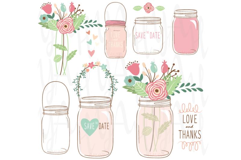 flower-mason-jar