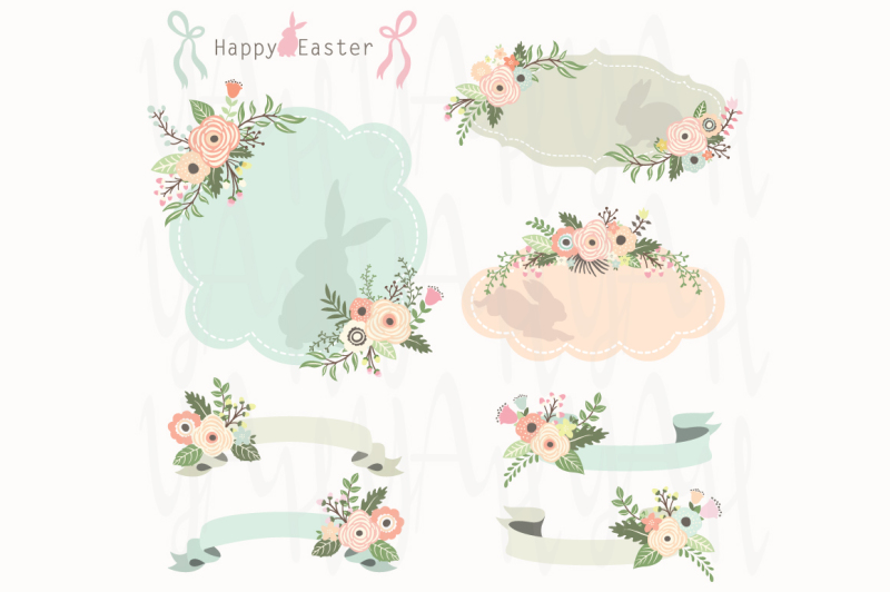 floral-easter-frames-and-banners-set
