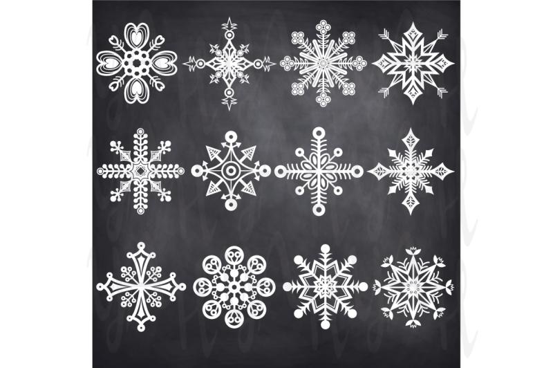 christmas-chalkboard-snowflakes