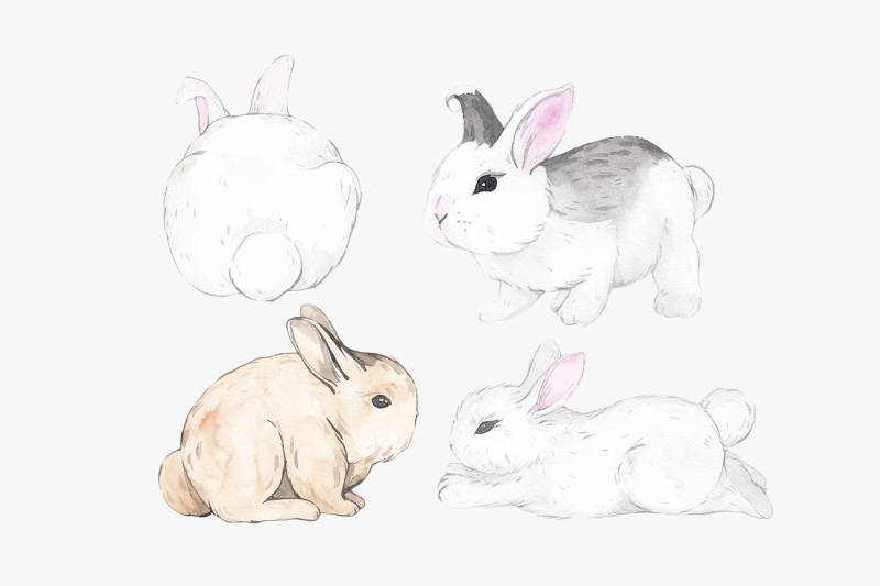 easter-why-so-cute-10-watercolor-bunnies