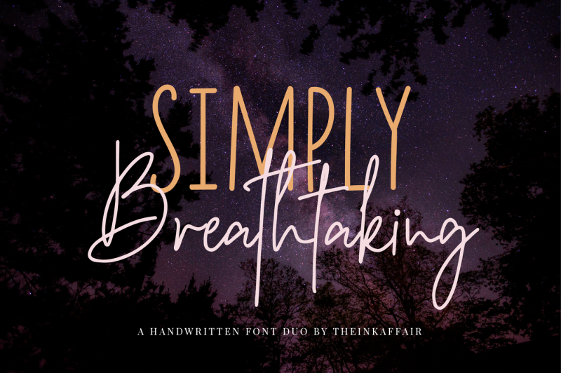 simply-breathtaking-font-duo