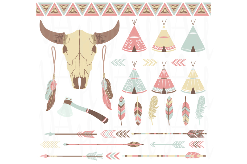 tribal-clip-art-elements