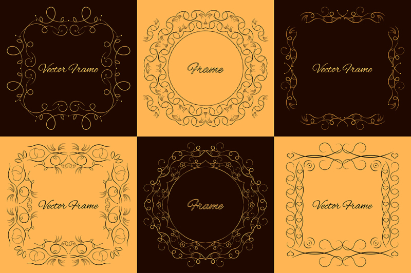 set-of-vector-decorative-frames