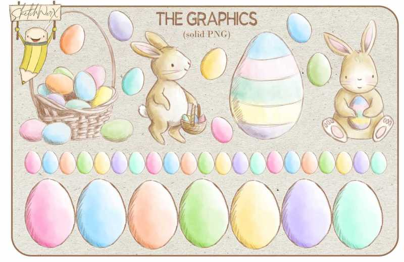 happy-easter-watercolour-collection