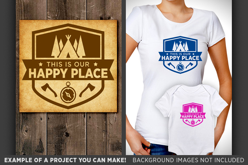 This Is Our Happy Place Svg File Happy Place Camping Sign