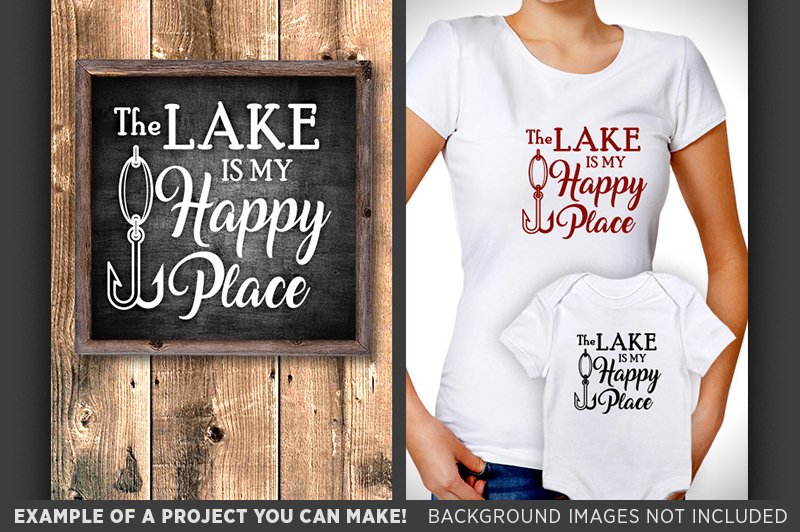 The Lake Is My Happy Place Svg Fishing Lure Nautical Decor 648