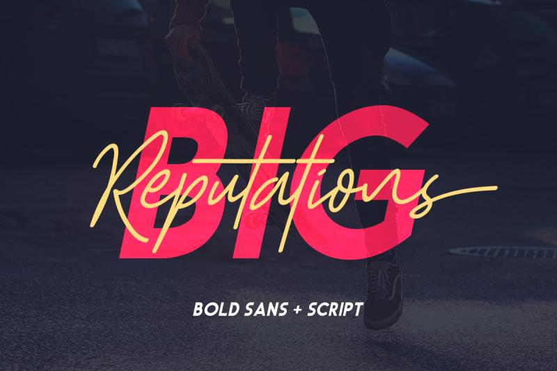 big-reputation-font-duo
