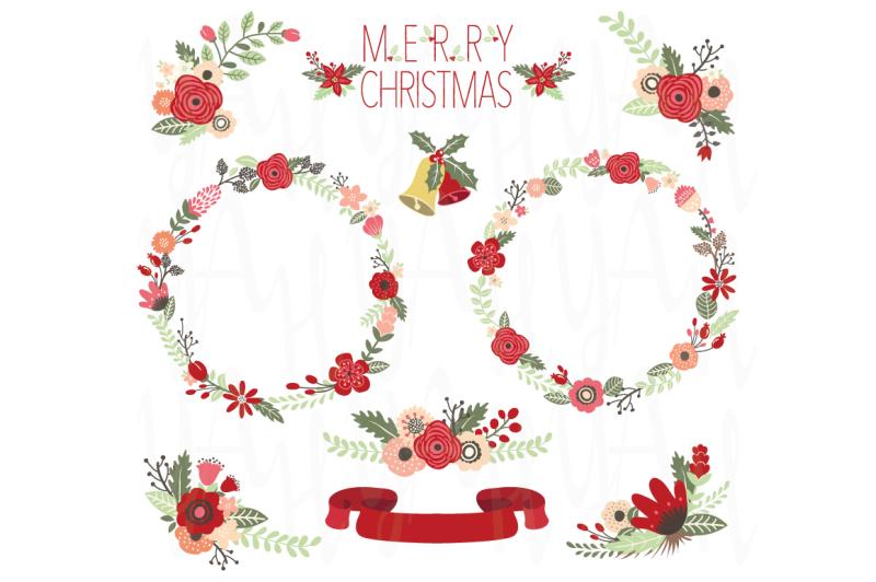 christmas-floral-clip-art