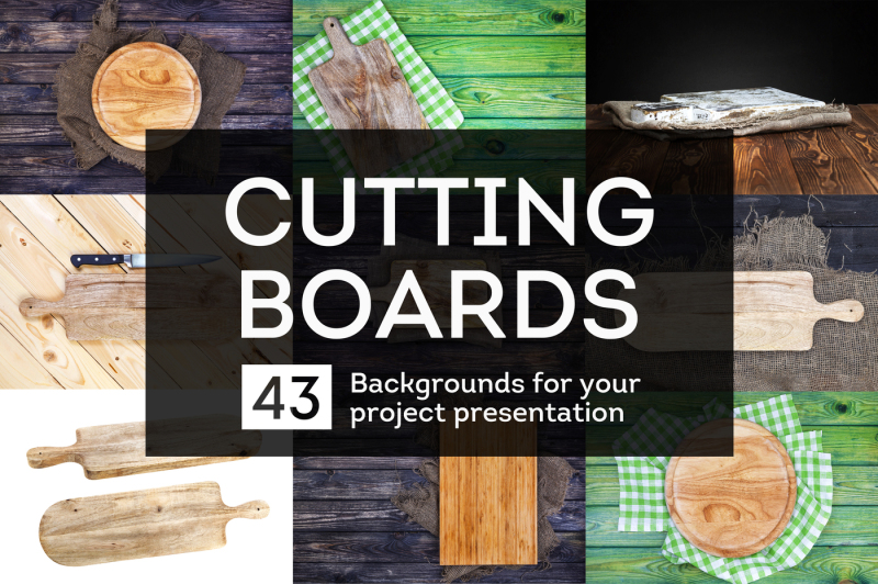 Free Cutting boards collection (PSD Mockups)