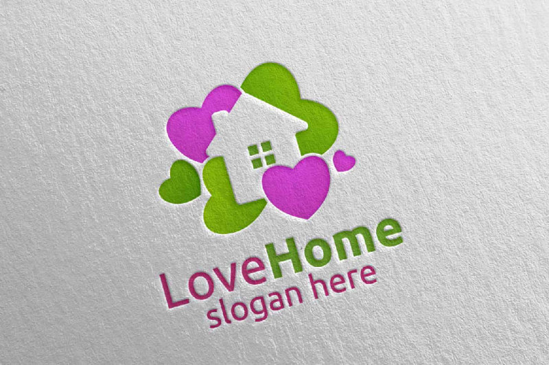 love-home-logo-colorful-house-logo
