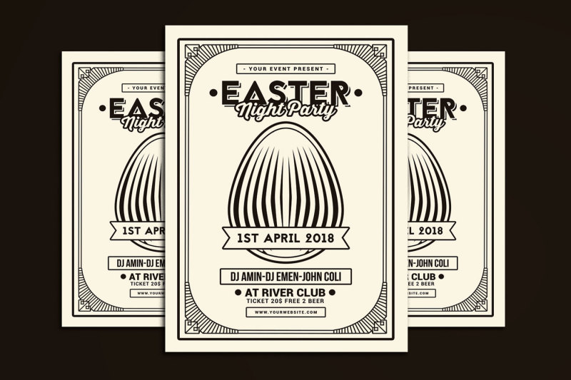 easter-party-flyer-art-deco-style