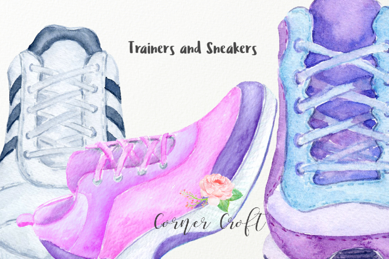 watercolor-trainers-and-sneakers-collection