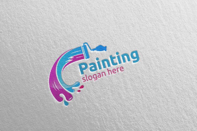 splash-painting-vector-logo-design