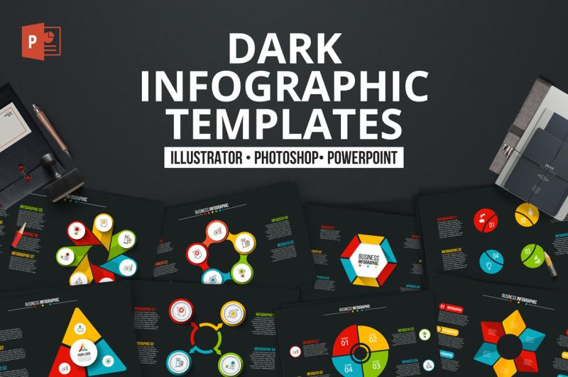 dark-ppt-infographics-templates