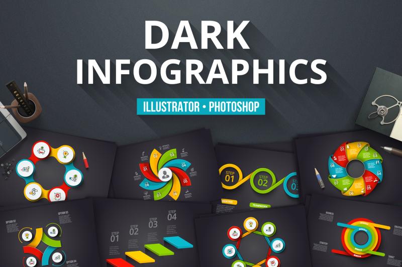 dark-infographics-templates
