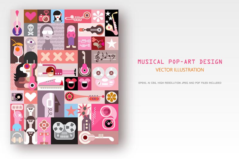 musical-pop-art-design