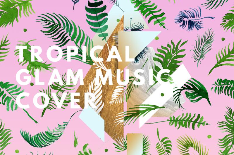 creative-herbal-abstract-folk-music-album-artworks
