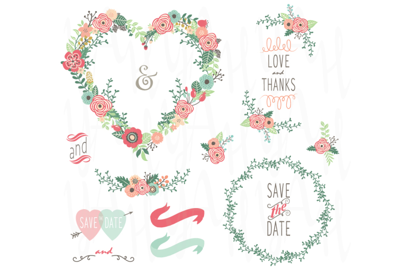 floral-wedding-heart-shape