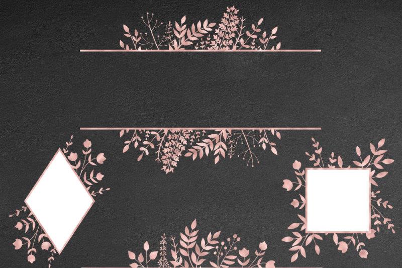 rose-gold-floral-frames-clip-art