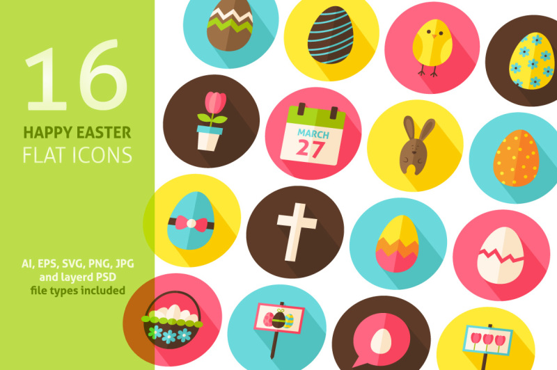 happy-easter-vector-flat-icons
