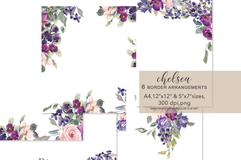 watercolor-blush-and-purple-plum-flowers-foliage-frames